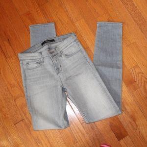 J BRAND grey Mid Rise Skinny Jeans